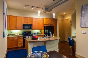 Two Bedroom Apartments for Rent in Houston, TX - Model Dining Room & Kitchen
